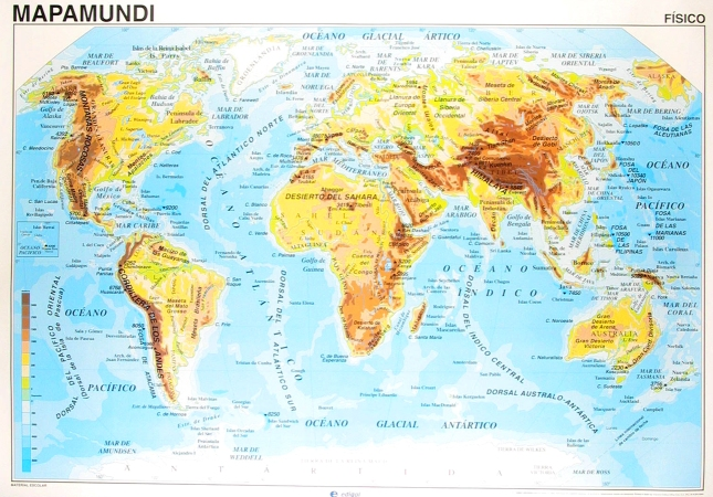 The distribution of mountainous regions is closely related to fault lines.  The oceans vary considerably in depth.   As mountains rose up and valleys formed, water flowed in to the deepest ravines cutting gorges and canyons in the soft newly formed sedimentary rock.